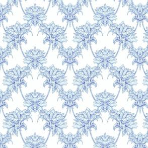 Dahlia in Ink 2 in Blue