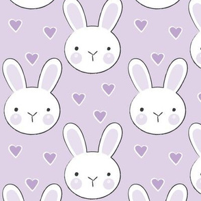 bunny faces on purple