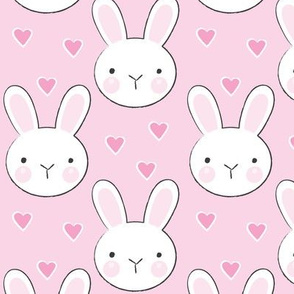 bunny faces on pink