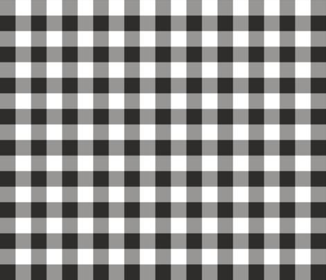 Gingham Black and White fabric by littlerhodydesign on Spoonflower - custom fabric