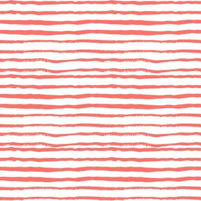 hand painted coral stripes girls coordinate fabric stripe fabric