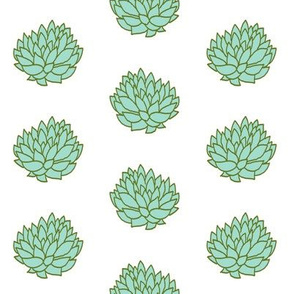 succulents simple cacti cactus cactuses fabric succulents fabric