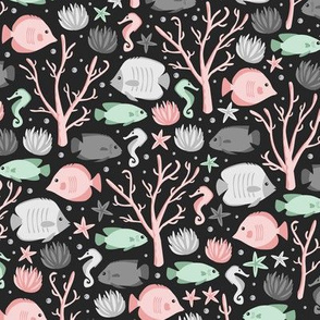 Coral Reef Crew (Mint and pink)