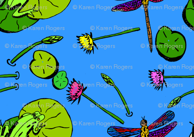dragonfly and frogs