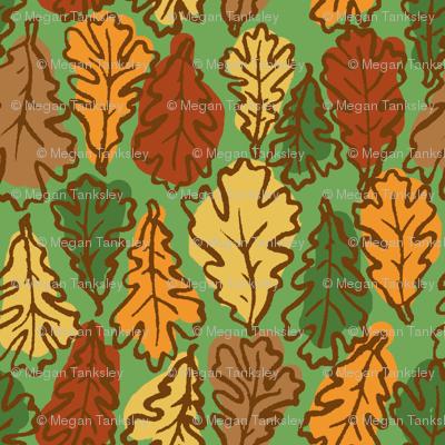 Oak Leaves  // Multicolored