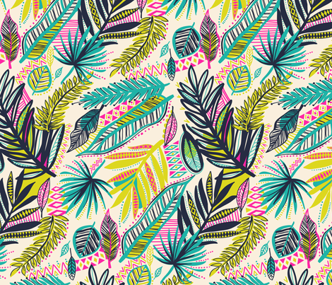 tribal jungle 2 fabric by laura_may_designs on Spoonflower - custom fabric
