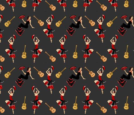 Flamenco fabric by floramoon on Spoonflower - custom fabric
