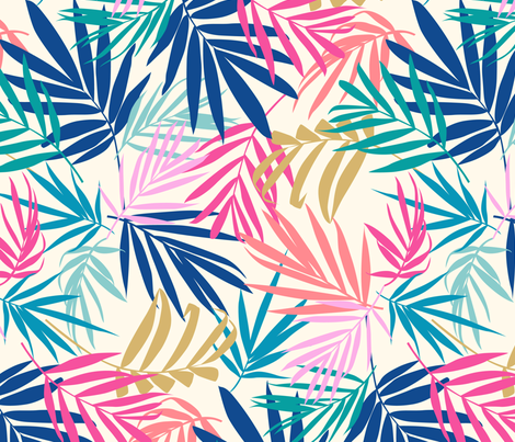 shadow palm 2 fabric by laura_may_designs on Spoonflower - custom fabric
