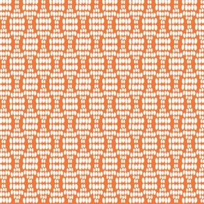 Dot waves in orange