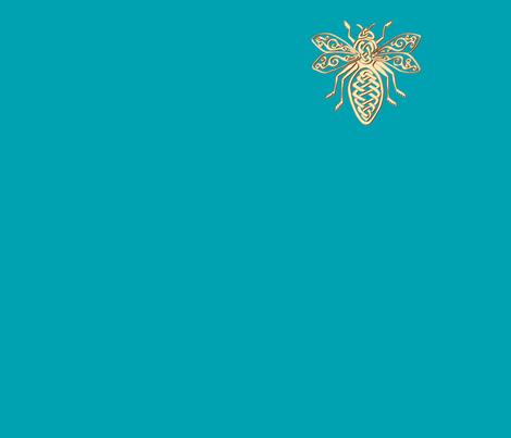 Celt bee centered fabric by ingridthecrafty on Spoonflower - custom fabric
