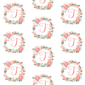 5c2b13907 Isobar Durable Wallpaper. t monogram girls florals floral wreath cute  blooms coral ...