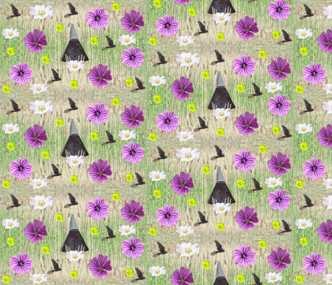 Garden of England fabric by redthanet on Spoonflower - custom fabric
