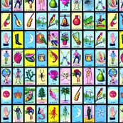 picture regarding Printable Loteria Mexicana referred to as mexican cloth, wallpaper household decor - Spoonflower