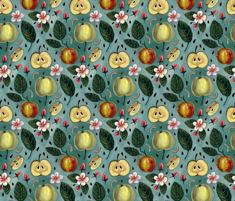 Apples fabric by marta_strausa on Spoonflower - custom fabric