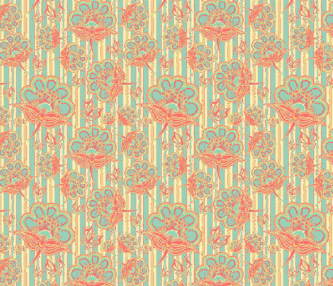 #SAGE - Beach Wakiki fabric by floramoon on Spoonflower - custom fabric