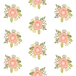 blush peony flowers floral peach floral posey
