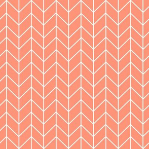 chevron coral blush chevrons fabric