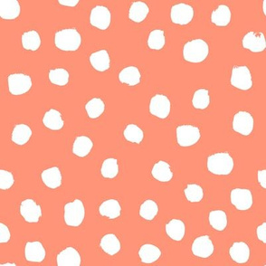 coral blush girls painted dots coordinate dots dot
