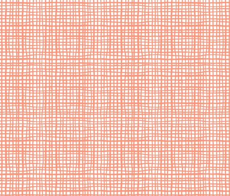 grid coral grid stripes coral grids checks fabric by charlottewinter on Spoonflower - custom fabric