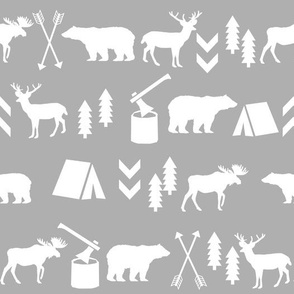 grey outdoors arrows woodland forest fabric baby nursery fabric baby room decor grey simple