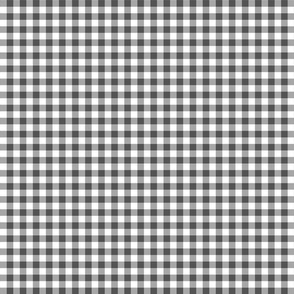 charcoal gingham, charcoal check fabric, check fabric, gingham, tartan, plaid, fabric spoonflower