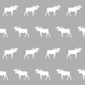 moose fabric light grey decor nursery baby