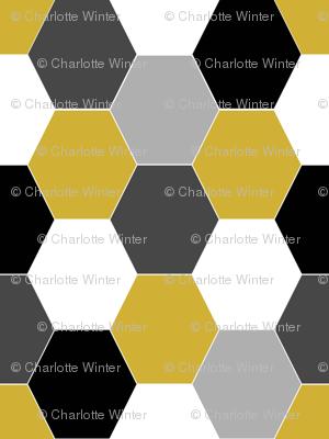 hexagon quilt hexies cheater quilt patchwork fabric baby blanket nursery baby