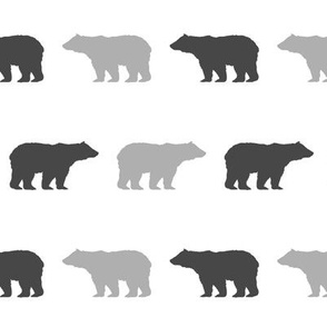 bear light grey and charcoal nursery baby nursery fabric boys room decor