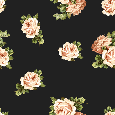 Vintage Tea Party Roses  fabric by shopcabin on Spoonflower - custom fabric