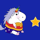 Wonder Unicorn Gold Star