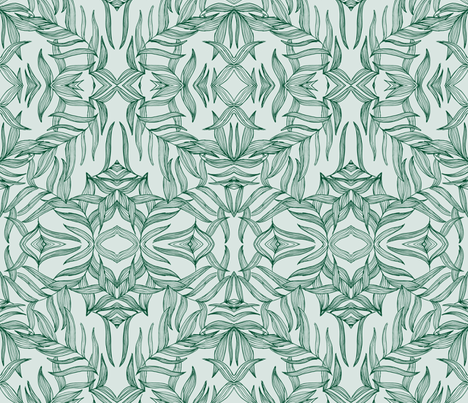 Amaranth Green 5584332 | Michelle Mathis fabric by michellemathis on Spoonflower - custom fabric