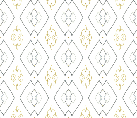 Gold Coil fabric by edjeanette on Spoonflower - custom fabric