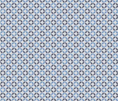 Buds Small - Summer Blue Mix fabric by jodiebarker on Spoonflower - custom fabric