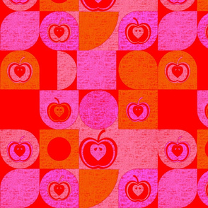 "Your Granny""s Kitchen Curtain Apples REDS"