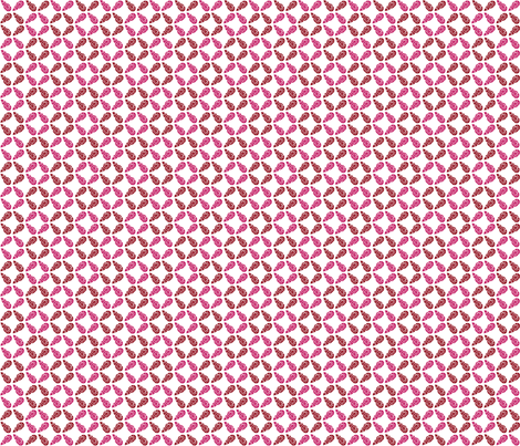 Buds Small - Winter Fuchsia Mix fabric by jodiebarker on Spoonflower - custom fabric