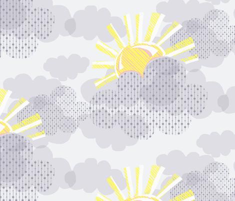Sunshine on a Grey Day fabric by abbieuproot on Spoonflower - custom fabric