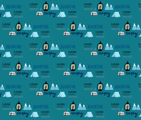 Camping Adventures fabric by sara_gerrard on Spoonflower - custom fabric