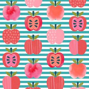 Pink Lady Apples - Teal Stripe