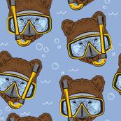 Snorkling Brown Bear