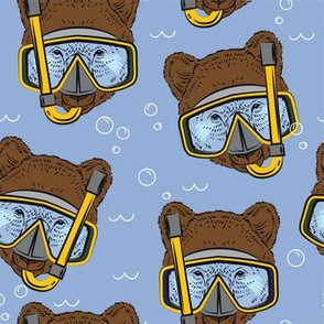 Snorkling Brown Bear