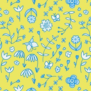 dainty flowers - blue