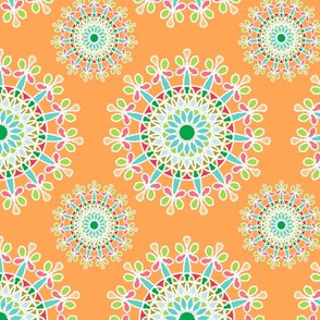 fancy blossoms - orange