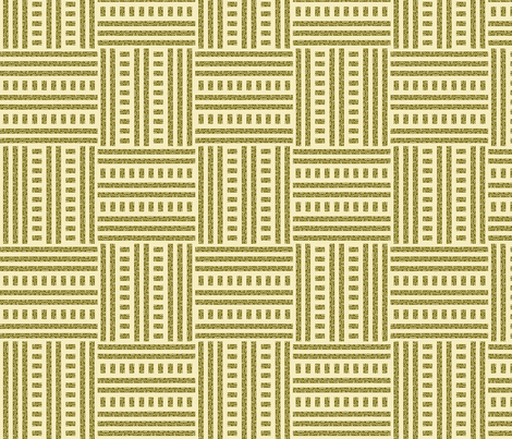 Buzz Weave - Moss & Vanilla fabric by jodiebarker on Spoonflower - custom fabric