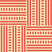 Buzz Weave - Tomato Red & Vanilla