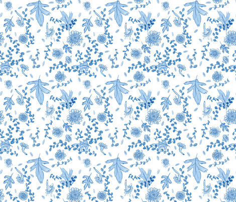 Blue_Pattern fabric by sincerelywrong on Spoonflower - custom fabric