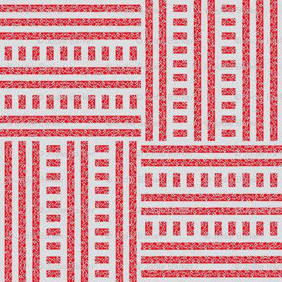 Buzz Weave - True Red & Grey