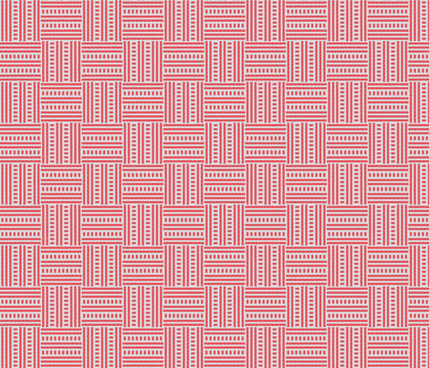Buzz Weave - True Red & Grey fabric by jodiebarker on Spoonflower - custom fabric