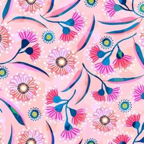 Flowering Gum - Peach - Wallpaper