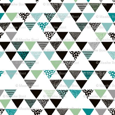 Geometric tribal aztec arrows triangle mint blue