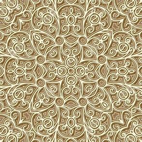Antique Gold fret work